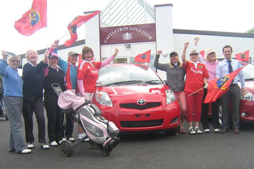 Munster's Golfing support at Castletroy Golf Club in Limerick