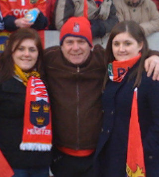 Ger O'Donnell with twin daughters Rachel & Louise from Farranree in Cork City