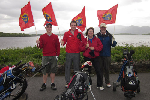 Sean O'Brien with Killian, Margaret and Donal Cashman at Killarney Golf and Fishing Club