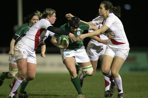 Ireland Captain Joy Neville in action against England