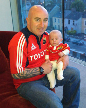 Kenny and Paddy Fitzpatrick supporting Munster in Waterford