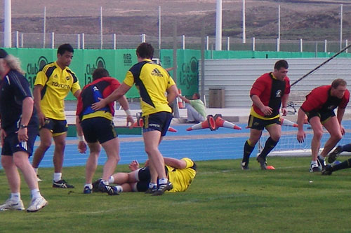 Munster squad training in Lanzarote