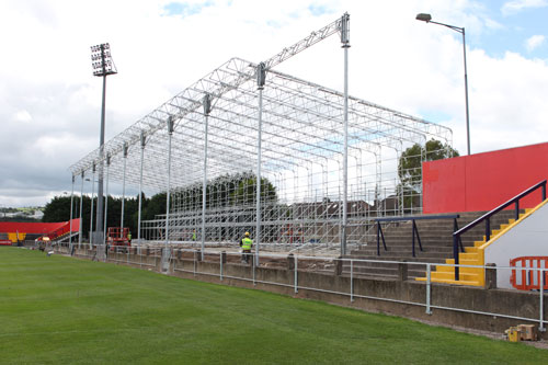 New steel structure put in place