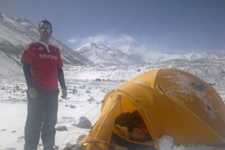 Mark Quinn from Limerick, the youngest Irish man to climb Everest