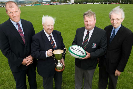 PDGM Ultan O'Callaghan, Munster Branch VP Cyril Fitzgerald, Highfield President Harry Matson and PRO Tony Loughry