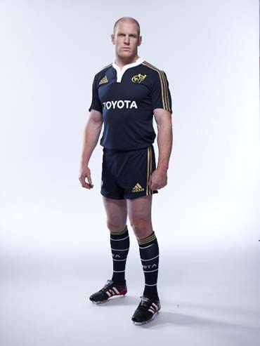 Paul O'Connell in the new adidas Munster Rugby training kit for season 2011/12, now available to pre-order in the Munster Rugby Store
