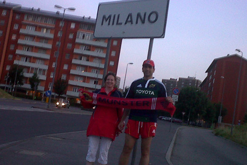 Pauline and Pietro in Milan