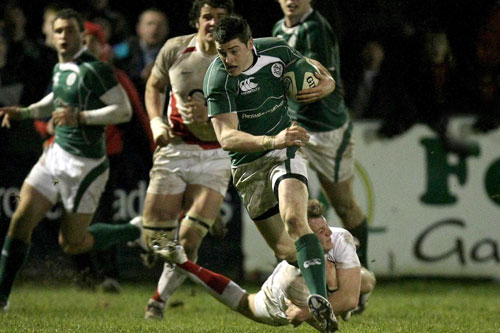 Munster Rugby Sub Academy Player Ronan O'Mahony in action for Ireland U20s