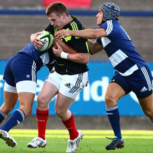 Munster's Rory Scannell on the charge