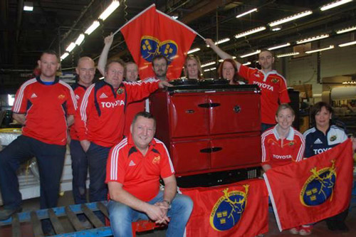 The staff at Waterford Stanley get behind Munster, even with a red cooker