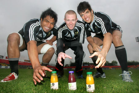 Nick Williams, Keith Earls and Donncha O'Callaghan