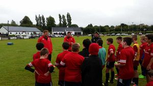 James Cronin and Stephen Archer meet the kids at the Ballincollig Camp.