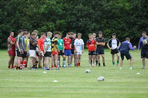 Munster coaches Colm McMahon and Mark Butler address the Under 17 Clubs side