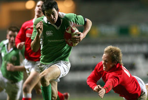 February 2007: In action against Wales and playing his part in Ireland U20s' Grand Slam success in the 2007 Six Nations U20 Championship.