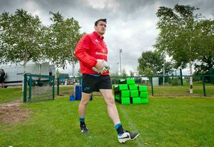 New signing Shane Monahan arrives onto the training field at CIT.