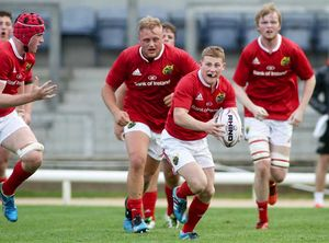 Munster U20 scrum-half John Poland in action against Connacht last Friday evening.