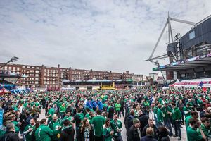 The amazing Irish support in the stadium was also replicated outside the in the RWC Fanzone.