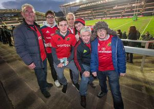 The Connory and Browne families were part of the strong and vocal travelling support for Munster at Welford Road yesterday.