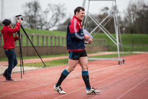 Robin Copeland takes to the training field at UL.