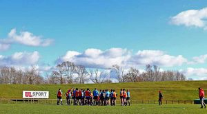 The squad trained under wonderful spring sun at UL yesterday.