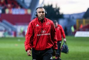 Simon Zebo arrives at Thomond Park for the game.