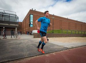Johnny Holland arrives onto the training field at UL.