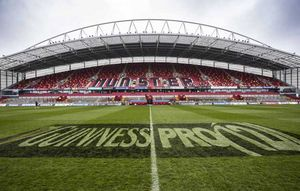 Thomond Park looking well and ready for the final game of the season.