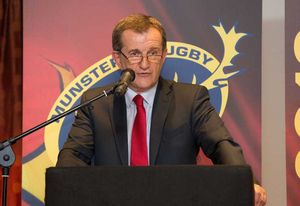 Munster Rugby CEO Garrett Fitzgerald makes the welcome address.
