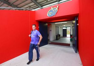 Director of Rugby Rassie Erasmus arrives for his first game at Irish Independent Park.