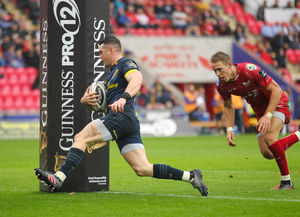 Munster's top try scorer of the season Ronan O'Mahony crosses in Munster's season opening win away to Scarlets - the province's first win in Llanelli since 2011.