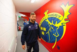 Jaco Taute arrives to play his first game at Irish Independent Park.