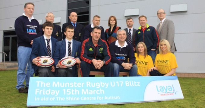 Rob Penney pictured at Laya Healthcare at the launch of the 10 a-side Schools Blitz