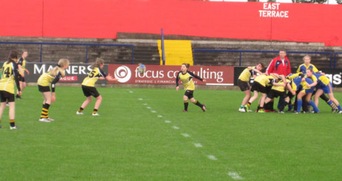 Abbeyfeale and Carrigaline girls display their skills in Musgrave Park