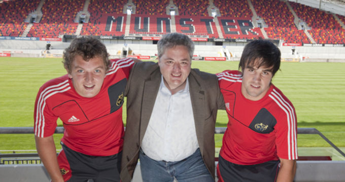 Munster Rugby Academy Players Kieran Essex and Conor Murray join Chef Richard Corrigan
