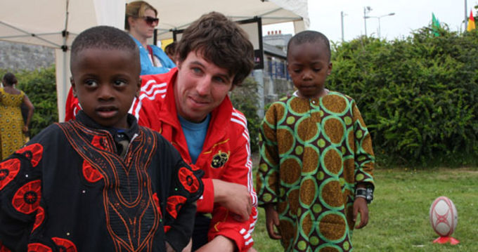 Ross Callaghan, Munster Rugby enjoying Africa Day