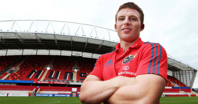 Andrew Conway ready to run out at Thomond Park