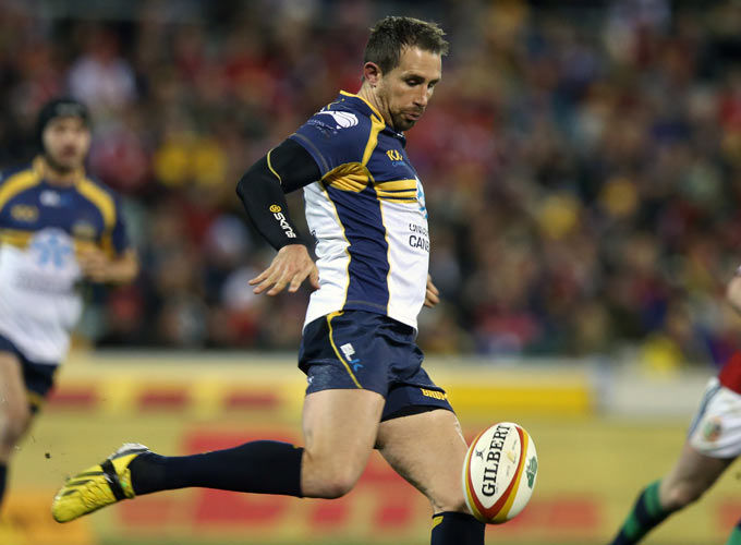 Andrew Smith in action for the Brumbies against the Biritsh and Irish Lions