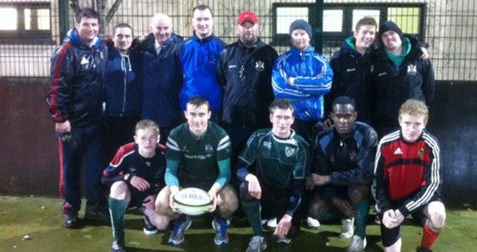 Bandon Grammar coaches and senior players pictured at the coaching workshop