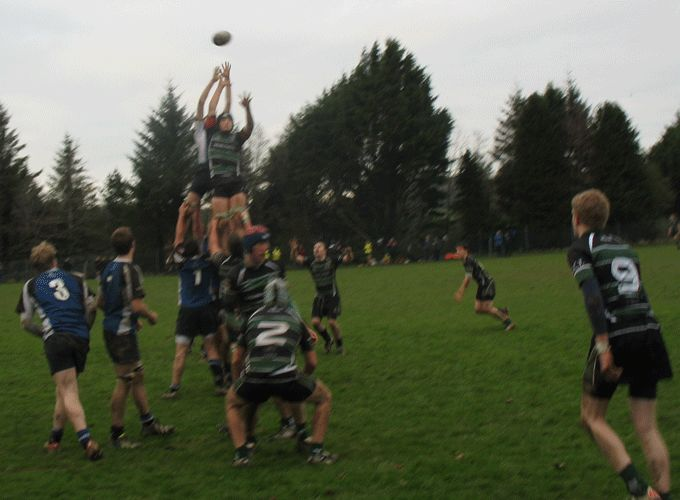Bandon Grammar in action against Midleton College