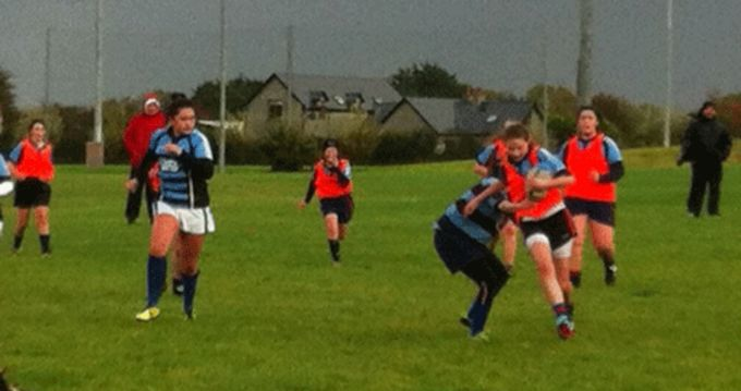 Bantry Bay Firls in action against Shannon at Coonagh