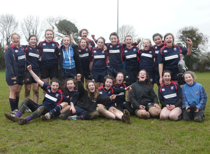 Bantry Bay U15 and U18 girls pictured at a recent rugby blitz day