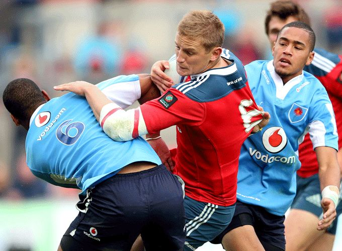 Bohane in action for Munster at the World Club 7s in Thomond Park earlier this month.