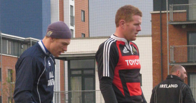 Brian O'Sullivan (Captain) and Bryan Lyons (Thurles) who will face Leinster tomorrow