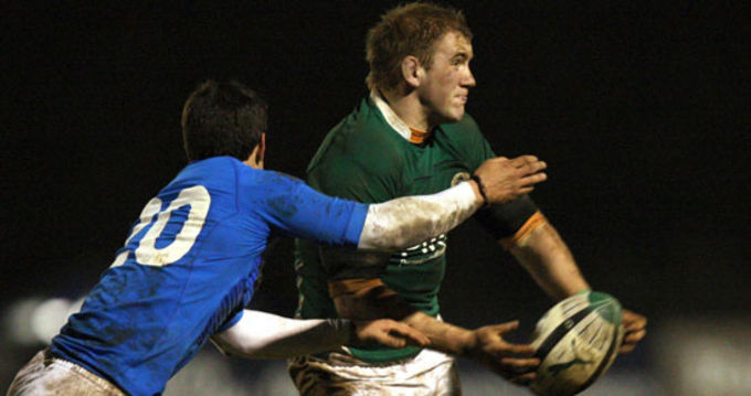 Munster's Bryan Cagney in action for the Irish U20s