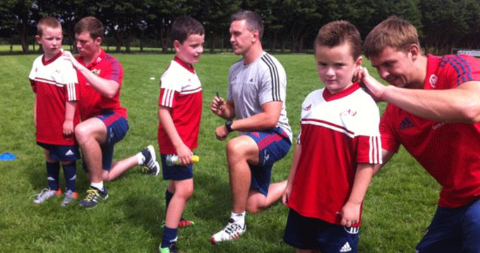 Luke O'Dea, Niall Ronan and Dave Foley sign autographs at Bruff Summer Camp