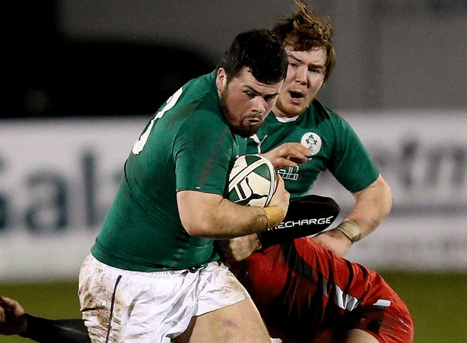 Munster's Rory Burke in action for Ireland U20s
