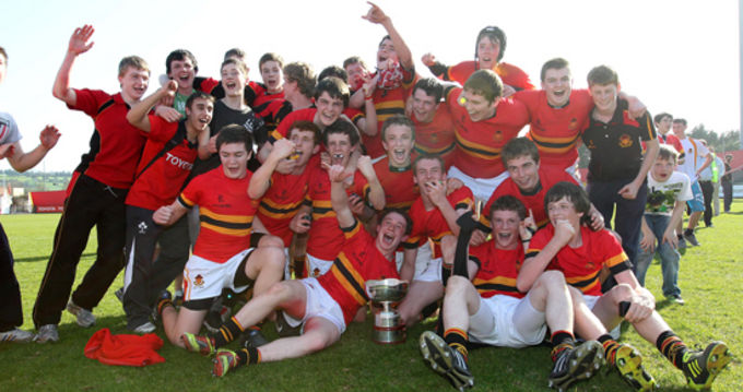 CBC, winners of the Munster Schools Junior Cup 2012