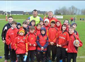 Young Pupils Meet Munster Stars