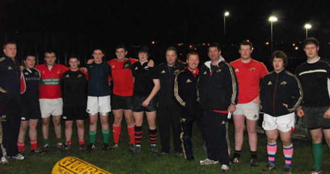 Scrum Clinic participants pictured with Munster Rugby Staff
