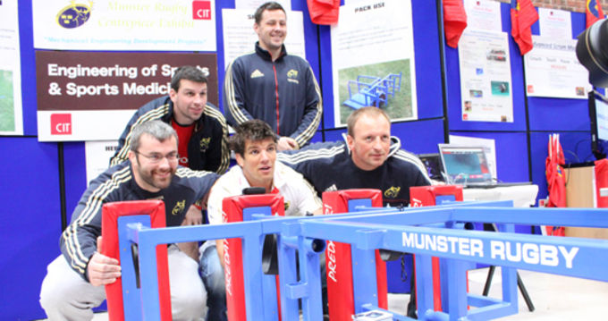 Christy Condon, Denis Leamy, Donncha O'Callaghan, James Coughlan and Mick O'Driscoll pictured at the CIT exhibition